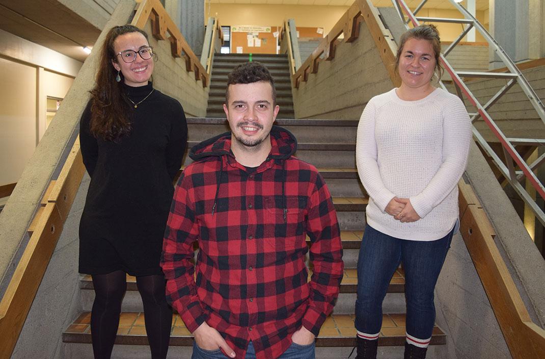3 techniciens en loisirs, Équipe de la vie étudiante, ESRDL, École secondaire de Rivière-du-Loup
